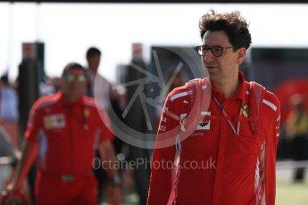 World © Octane Photographic Ltd. Formula 1 - British GP - Paddock. Mattia Binotto – Chief Technical Officer - Scuderia Ferrari. Silverstone Circuit, Towcester, UK. Sunday 8th July 2018.