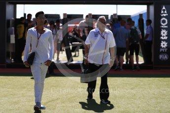 World © Octane Photographic Ltd. Formula 1 - British GP - Paddock. Siddharth Mallya – Director of Sahara Force India and Vijay Mallya. Silverstone Circuit, Towcester, UK. Sunday 8th July 2018.