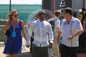 World © Octane Photographic Ltd. Formula 1 – British GP - Paddock. Anthony and Linda Hamilton. Silverstone Circuit, Towcester, UK. Sunday 8th July 2018.