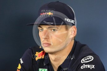 World © Octane Photographic Ltd. Formula 1 – British GP - Press Conference. Aston Martin Red Bull Racing TAG Heuer - Max Verstappen. Silverstone Circuit, Towcester, UK. Thursday 5th July 2018.