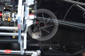 World © Octane Photographic Ltd. Formula 1 – British GP - Pit Lane. Aston Martin Red Bull Racing TAG Heuer RB14. Silverstone Circuit, Towcester, UK. Thursday 5th July 2018.