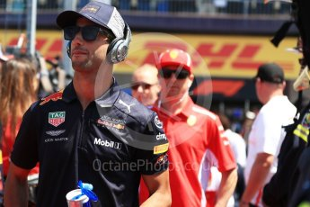 World © Octane Photographic Ltd. Formula 1 – Canadian GP - Drivers Parade. Aston Martin Red Bull Racing TAG Heuer RB14 – Daniel Ricciardo. Circuit Gilles Villeneuve, Montreal, Canada. Sunday 10th June 2018.