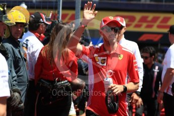 World © Octane Photographic Ltd. Formula 1 – Canadian GP - Drivers Parade. Scuderia Ferrari SF71-H – Kimi Raikkonen. Circuit Gilles Villeneuve, Montreal, Canada. Sunday 10th June 2018.