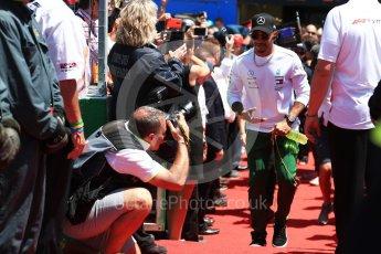 World © Octane Photographic Ltd. Formula 1 – Canadian GP - Drivers Parade. Mercedes AMG Petronas Motorsport AMG F1 W09 EQ Power+ - Lewis Hamilton. Circuit Gilles Villeneuve, Montreal, Canada. Sunday 10th June 2018.