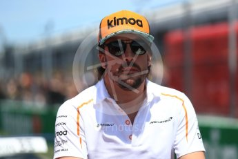 World © Octane Photographic Ltd. Formula 1 – Canadian GP - Drivers Parade. McLaren MCL33 – Fernando Alonso. Circuit Gilles Villeneuve, Montreal, Canada. Sunday 10th June 2018.