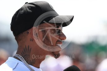 World © Octane Photographic Ltd. Formula 1 – Canadian GP - Drivers Parade. Mercedes AMG Petronas Motorsport AMG F1 W09 EQ Power+ - Lewis Hamilton. Circuit Gilles Villeneuve, Montreal, Canada. Sunday 10th June 2018.