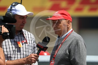 World © Octane Photographic Ltd. Formula 1 - Canadian GP - Grid. Niki Lauda - Non-Executive Chairman of Mercedes-Benz Motorsport. Circuit Gilles Villeneuve, Montreal, Canada. Sunday 10th June 2018.