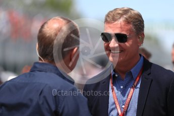 World © Octane Photographic Ltd. Formula 1 - Canadian GP - Grid. David Coulthard. Circuit Gilles Villeneuve, Montreal, Canada. Sunday 10th June 2018.