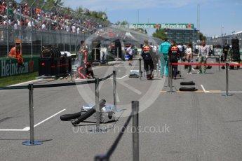 World © Octane Photographic Ltd. Formula 1 - Canadian GP - Grid. Circuit Gilles Villeneuve, Montreal, Canada. Sunday 10th June 2018.