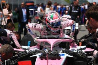 World © Octane Photographic Ltd. Formula 1 – Canadian GP - Grid. Sahara Force India VJM11 - Sergio Perez. Circuit Gilles Villeneuve, Montreal, Canada. Sunday 10th June 2018.