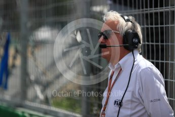 World © Octane Photographic Ltd. Formula 1 - Canadian GP - Driver Parade. Charlie Whiting – President of FIA. Circuit Gilles Villeneuve, Montreal, Canada. Sunday 10th June 2018.
