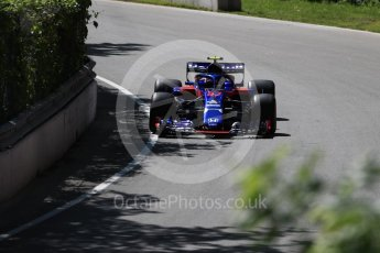 World © Octane Photographic Ltd. Formula 1 – Canadian GP - Practice 1. Scuderia Toro Rosso STR13 – Pierre Gasly. Circuit Gilles Villeneuve, Montreal, Canada. Friday 8th June 2018.