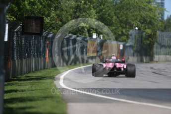World © Octane Photographic Ltd. Formula 1 – Canadian GP - Practice 1. Sahara Force India VJM11 - Esteban Ocon. Circuit Gilles Villeneuve, Montreal, Canada. Friday 8th June 2018.