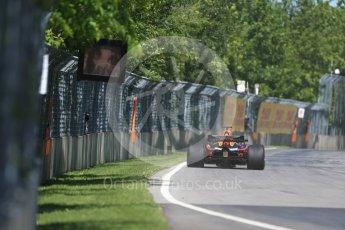 World © Octane Photographic Ltd. Formula 1 – Canadian GP - Practice 1. Aston Martin Red Bull Racing TAG Heuer RB14 – Daniel Ricciardo. Circuit Gilles Villeneuve, Montreal, Canada. Friday 8th June 2018.