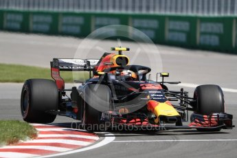 World © Octane Photographic Ltd. Formula 1 – Canadian GP - Practice 1. Aston Martin Red Bull Racing TAG Heuer RB14 – Max Verstappen. Circuit Gilles Villeneuve, Montreal, Canada. Friday 8th June 2018.