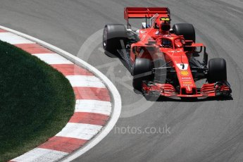 World © Octane Photographic Ltd. Formula 1 – Canadian GP - Practice 2. Scuderia Ferrari SF71-H – Kimi Raikkonen. Circuit Gilles Villeneuve, Montreal, Canada. Friday 8th June 2018.