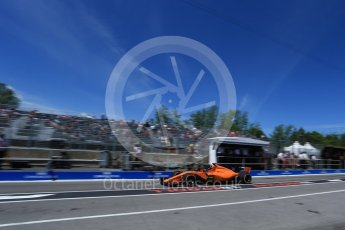 World © Octane Photographic Ltd. Formula 1 – Canadian GP - Practice 3. McLaren MCL33 – Fernando Alonso. Circuit Gilles Villeneuve, Montreal, Canada. Saturday 9th June 2018.