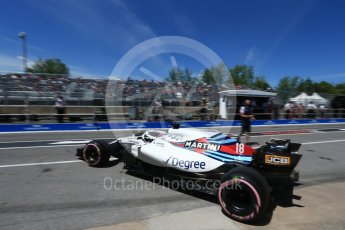 World © Octane Photographic Ltd. Formula 1 – Canadian GP - Practice 3. Williams Martini Racing FW41 – Lance Stroll. Circuit Gilles Villeneuve, Montreal, Canada. Saturday 9th June 2018.