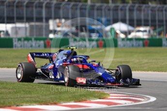World © Octane Photographic Ltd. Formula 1 – Canadian GP - Quailfying. Scuderia Toro Rosso STR13 – Pierre Gasly. Circuit Gilles Villeneuve, Montreal, Canada. Saturday 9th June 2018.