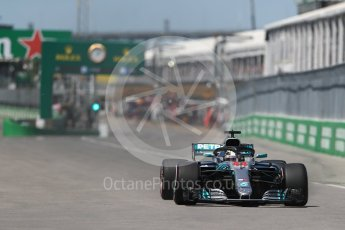 World © Octane Photographic Ltd. Formula 1 – Canadian GP - Quailfying. Mercedes AMG Petronas Motorsport AMG F1 W09 EQ Power+ - Lewis Hamilton. Circuit Gilles Villeneuve, Montreal, Canada. Saturday 9th June 2018.