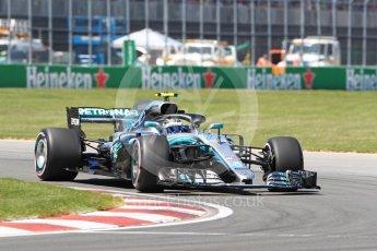 World © Octane Photographic Ltd. Formula 1 – Canadian GP - Quailfying. Mercedes AMG Petronas Motorsport AMG F1 W09 EQ Power+ - Valtteri Bottas. Circuit Gilles Villeneuve, Montreal, Canada. Saturday 9th June 2018.