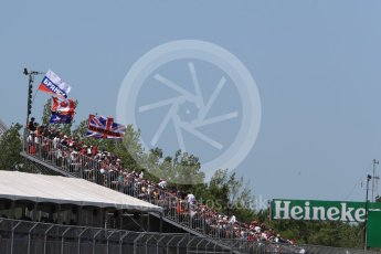 World © Octane Photographic Ltd. Formula 1 – Canadian GP - Quailfying. Fans. Circuit Gilles Villeneuve, Montreal, Canada. Saturday 9th June 2018.