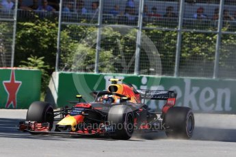 World © Octane Photographic Ltd. Formula 1 – Canadian GP - Quailfying. Aston Martin Red Bull Racing TAG Heuer RB14 – Max Verstappen. Circuit Gilles Villeneuve, Montreal, Canada. Saturday 9th June 2018.