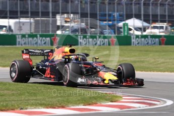 World © Octane Photographic Ltd. Formula 1 – Canadian GP - Quailfying. Aston Martin Red Bull Racing TAG Heuer RB14 – Daniel Ricciardo. Circuit Gilles Villeneuve, Montreal, Canada. Saturday 9th June 2018.