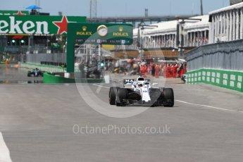 World © Octane Photographic Ltd. Formula 1 – Canadian GP - Quailfying. Williams Martini Racing FW41 – Lance Stroll. Circuit Gilles Villeneuve, Montreal, Canada. Saturday 9th June 2018.