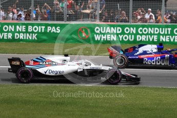 World © Octane Photographic Ltd. Formula 1 – Canadian GP - Race. Williams Martini Racing FW41 – Lance Stroll. Circuit Gilles Villeneuve, Montreal, Canada. Sunday 10th June 2018.