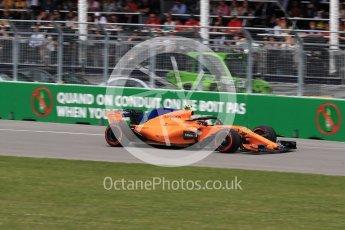 World © Octane Photographic Ltd. Formula 1 – Canadian GP - Race. McLaren MCL33 – Stoffel Vandoorne. Circuit Gilles Villeneuve, Montreal, Canada. Sunday 10th June 2018.