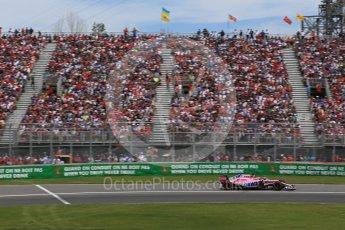 World © Octane Photographic Ltd. Formula 1 – Canadian GP - Race. Sahara Force India VJM11 - Sergio Perez. Circuit Gilles Villeneuve, Montreal, Canada. Sunday 10th June 2018.