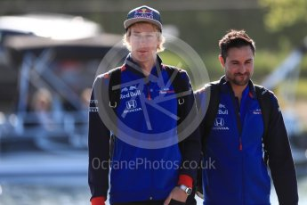 World © Octane Photographic Ltd. Formula 1 – Canadian GP - Paddock. Scuderia Toro Rosso STR13 – Brendon Hartley. Circuit Gilles Villeneuve, Montreal, Canada. Friday 8th June 2018.