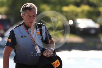 World © Octane Photographic Ltd. Formula 1 - Canadian GP - Paddock.Mario Isola – Pirelli Head of Car Racing. Circuit Gilles Villeneuve, Montreal, Canada. Friday 8th June 2018.