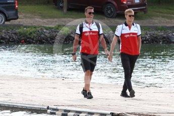 World © Octane Photographic Ltd. Formula 1 – Canadian GP - Paddock. Alfa Romeo Sauber F1 Team C37 – Marcus Ericsson. Circuit Gilles Villeneuve, Montreal, Canada. Saturday 9th June 2018.