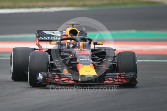 World © Octane Photographic Ltd. Formula 1 – Winter Test 1. Aston Martin Red Bull Racing TAG Heuer RB14 – Daniel Ricciardo. Circuit de Barcelona-Catalunya, Spain. Monday 26th February 2018.