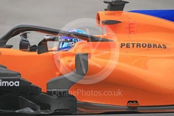 World © Octane Photographic Ltd. Formula 1 – Winter Test 1. McLaren MCL33 – Fernando Alonso. Circuit de Barcelona-Catalunya, Spain. Monday 26th February 2018. Digital Ref :