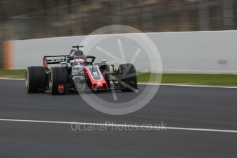 World © Octane Photographic Ltd. Formula 1 – Winter Test 1. Haas F1 Team VF-18 – Romain Grosjean. Circuit de Barcelona-Catalunya, Spain. Monday 26th February 2018.