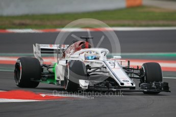 World © Octane Photographic Ltd. Formula 1 – Winter Test 1. Alfa Romeo Sauber F1 Team C37 – Marcus Ericsson. Circuit de Barcelona-Catalunya, Spain. Monday 26th February 2018.
