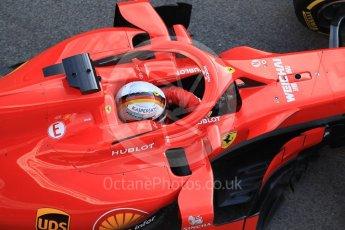 World © Octane Photographic Ltd. Formula 1 – Winter Test 1. Scuderia Ferrari SF71-H – Sebastian Vettel, Circuit de Barcelona-Catalunya, Spain. Tuesday 27th February 2018.