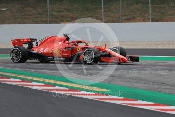 World © Octane Photographic Ltd. Formula 1 – Winter Test 1. Scuderia Ferrari SF71-H – Sebastian Vettel. Circuit de Barcelona-Catalunya, Spain. Tuesday 27th February 2018.