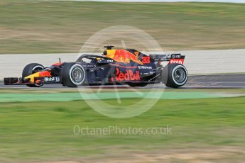 World © Octane Photographic Ltd. Formula 1 – Winter Test 2. Aston Martin Red Bull Racing TAG Heuer RB14 – Max Verstappen. Circuit de Barcelona-Catalunya, Spain. Thursday 8th March 2018.