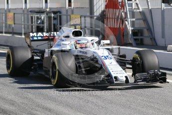 World © Octane Photographic Ltd. Formula 1 – Winter Test 2. Williams Martini Racing FW41 – Sergey Sirotkin. Circuit de Barcelona-Catalunya, Spain. Friday 9th March 2018.
