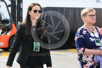 World © Octane Photographic Ltd. Formula 1 – Winter Test 2. Minttu Virtanen (Kimi Raikkonen's wife). Circuit de Barcelona-Catalunya, Spain. Friday 9th March 2018.