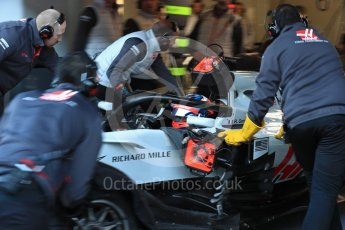 World © Octane Photographic Ltd. Formula 1 – Winter Test 2. Haas F1 Team VF-18 – Romain Grosjean. Circuit de Barcelona-Catalunya, Spain. Friday 9th March 2018.