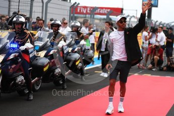 World © Octane Photographic Ltd. Formula 1 – French GP - Drivers Parade. Mercedes AMG Petronas Motorsport AMG F1 W09 EQ Power+ - Lewis Hamilton. Circuit Paul Ricard, Le Castellet, France. Sunday 24th June 2018.