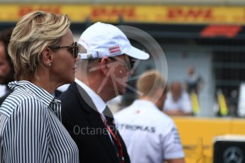 World © Octane Photographic Ltd. Formula 1 – French GP - Grid. Charlene, Princess of Monaco. Circuit Paul Ricard, Le Castellet, France. Sunday 24th June 2018.