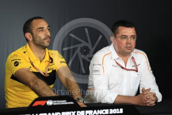 World © Octane Photographic Ltd. Formula 1 - French GP – Friday FIA Team Press Conference. Cyril Abiteboul - Managing Director of Renault Sport Racing Formula 1 Team. Circuit Paul Ricard, Le Castellet, France. Friday 22nd June 2018.