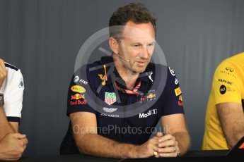 World © Octane Photographic Ltd. Formula 1 - French GP - Friday FIA Team Press Conference. Christian Horner - Team Principal of Red Bull Racing. Circuit Paul Ricard, Le Castellet, France. Friday 22nd June 2018.