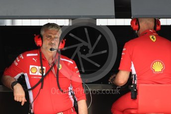 World © Octane Photographic Ltd. Formula 1 - French GP - Practice 3. Maurizio Arrivabene – Managing Director and Team Principal of Scuderia Ferrari. Circuit Paul Ricard, Le Castellet, France. Saturday 23rd June 2018.